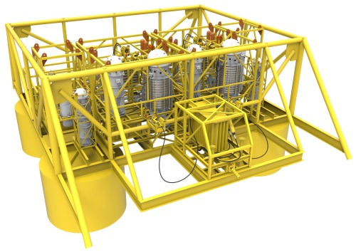 GE's subsea compression system eliminates the need for costly topsides facilities. Source: GE Oil & Gas