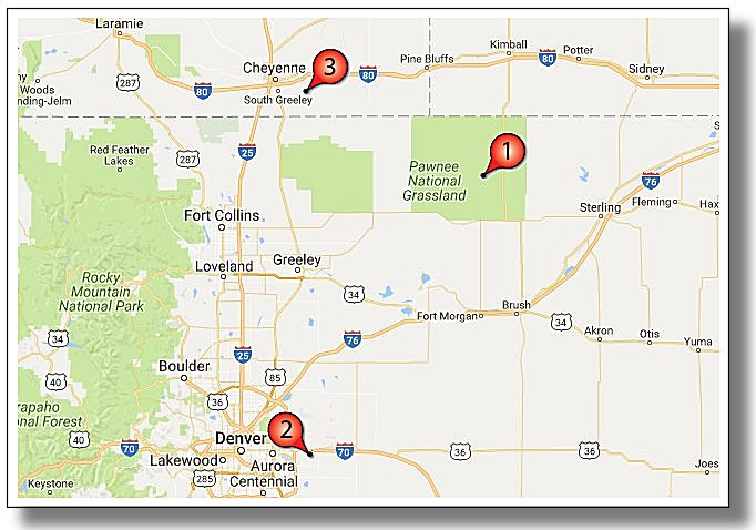 Colorado Wyoming Niobrara Shale Activity Highlight Map