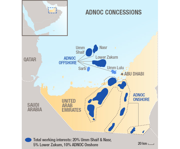 ABK Field Holds Importance For Total's New Abu Dhabi