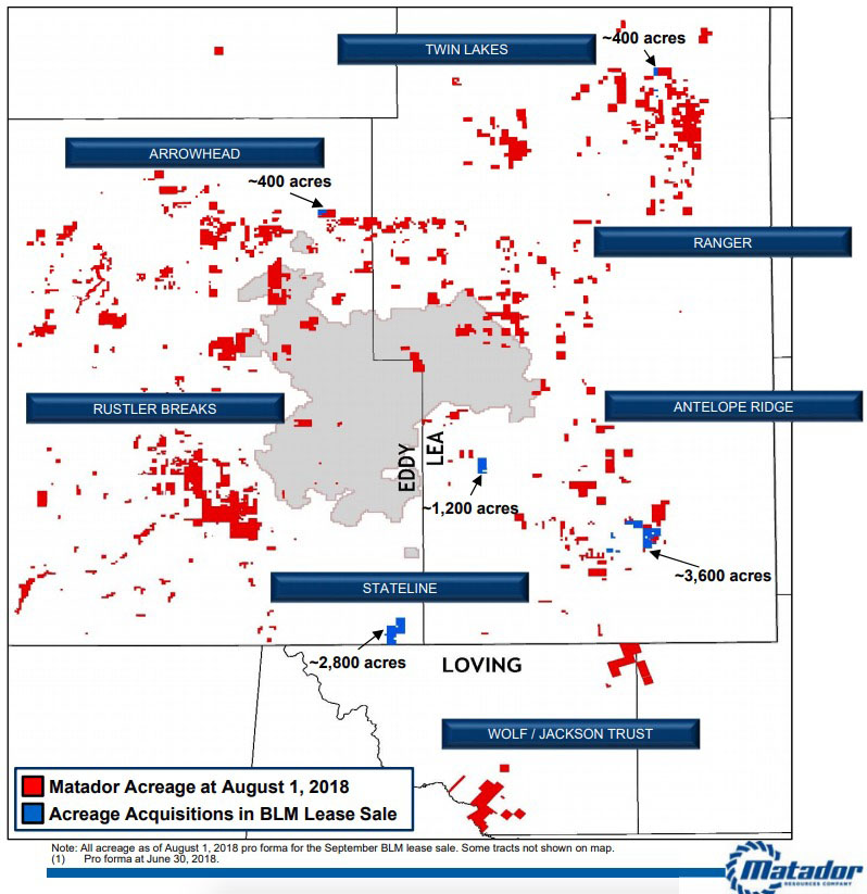 Colorado Oil And Gas News: Matador Revealed As Top Bidder In BLM New Mexico Auction