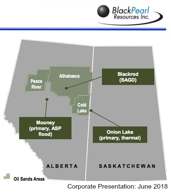 BlackPearl Asset Map (Source: BlackPearl Resources Inc.)