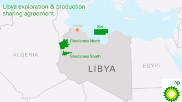 Libya Exploration And Production Sharing Agreement Asset Map (Source: BP Plc)