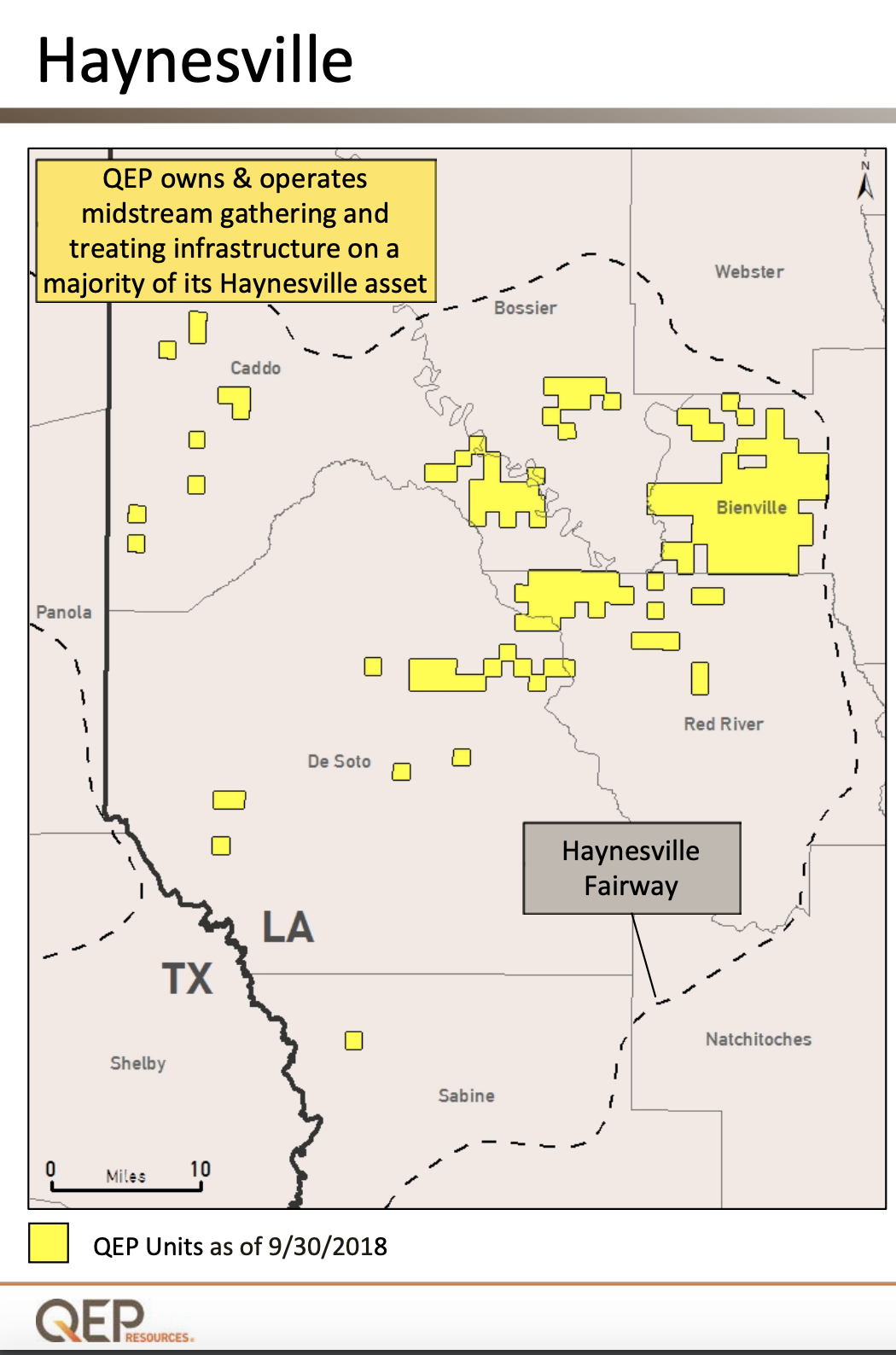 QEP Resources Haynesville Asset Map (Source: QEP Resources Inc.)