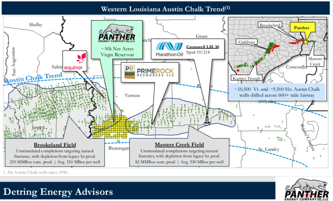 Marketed: Panther Energy Louisiana Austin Chalk Leasehold