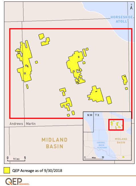 QEP Resources Midland Basin Acreage Map (Source: QEP Resources Inc.)