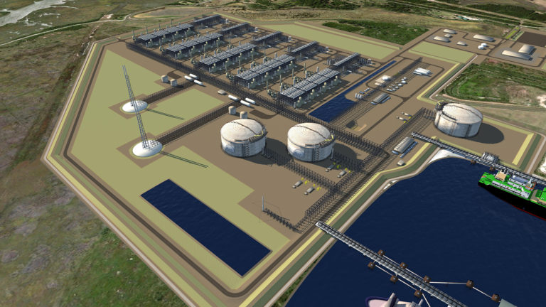 Rendering of Tellurian's Driftwood LNG. (Graphic: Business Wire)
