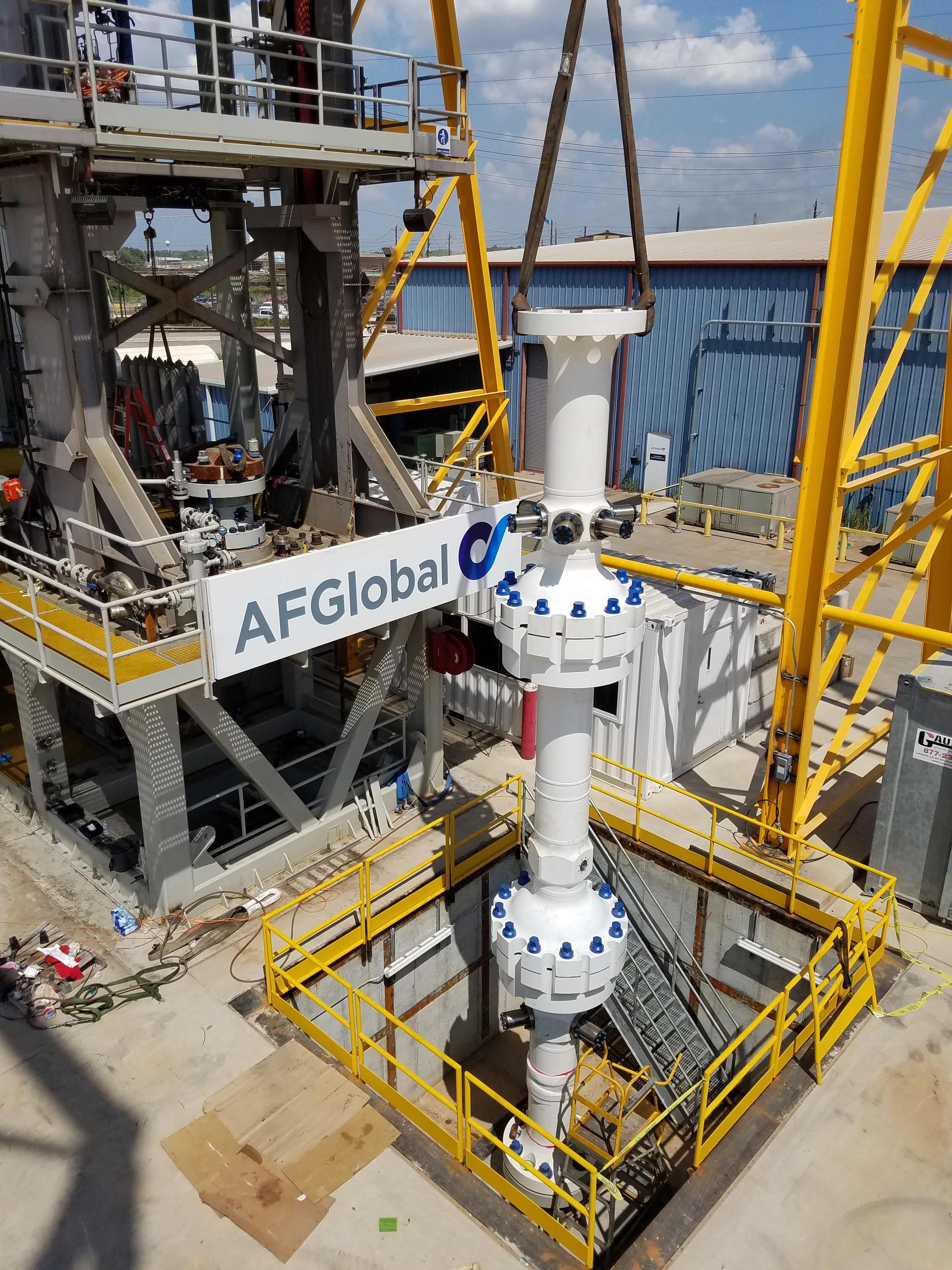 Testing of the ACD system was done at AFGlobal's purpose-built, full-scale test rig facility that simulates offshore drilling conditions by enabling simultaneous rotation and reciprocation with dynamic movement of the drillpipe mandrel. (Source: AFGlobal)