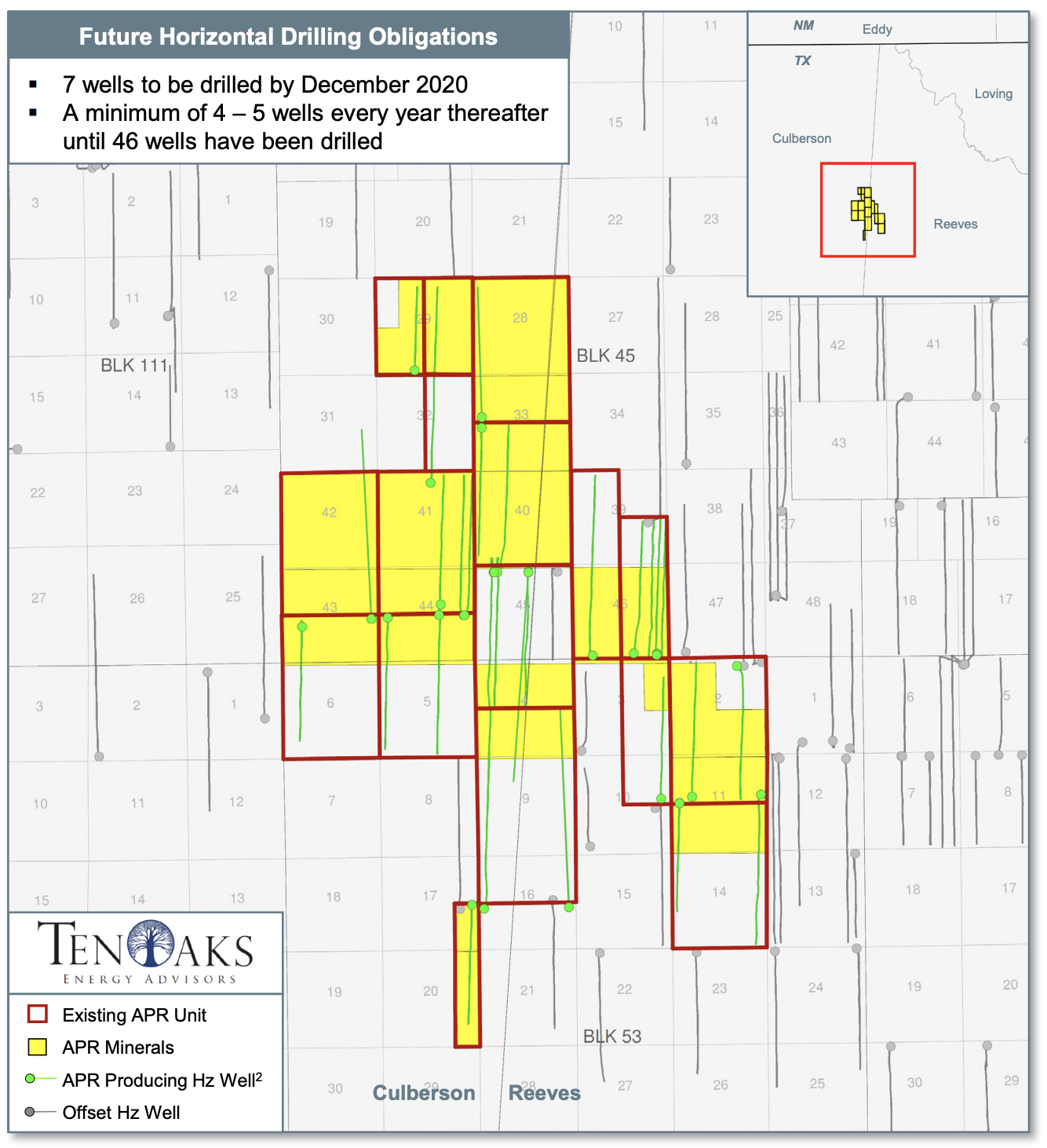 Admiral Permian Resources Delaware Basin Minerals Asset Map (Source: TenOaks Energy Advisors LLC)