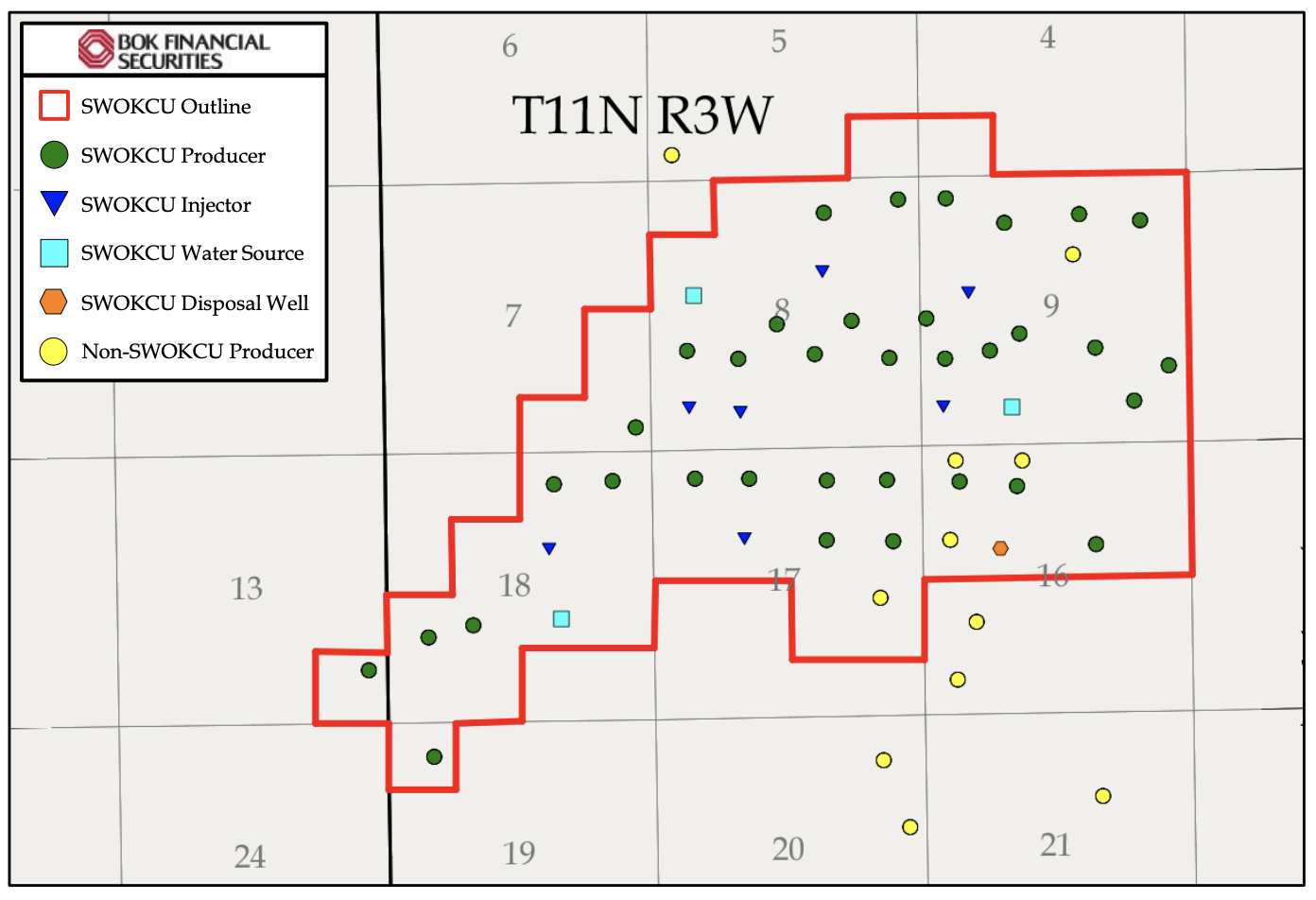 نقشه بازار اوراق بهادار مالی BOK - Properties of Waterflood Water Petroleum Oklahoma