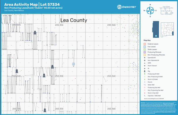 Bone Spring Resources Permian Basin Leasehold Lea County, NM, Asset Map (Source: EnergyNet)