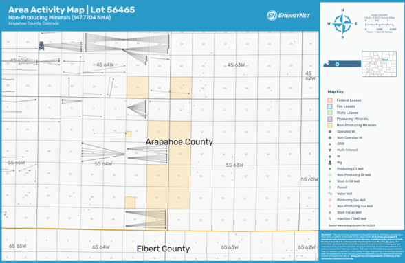 D-J Basin Minerals Arapahoe County, Colorado Asset Map (Source: EnergyNet)