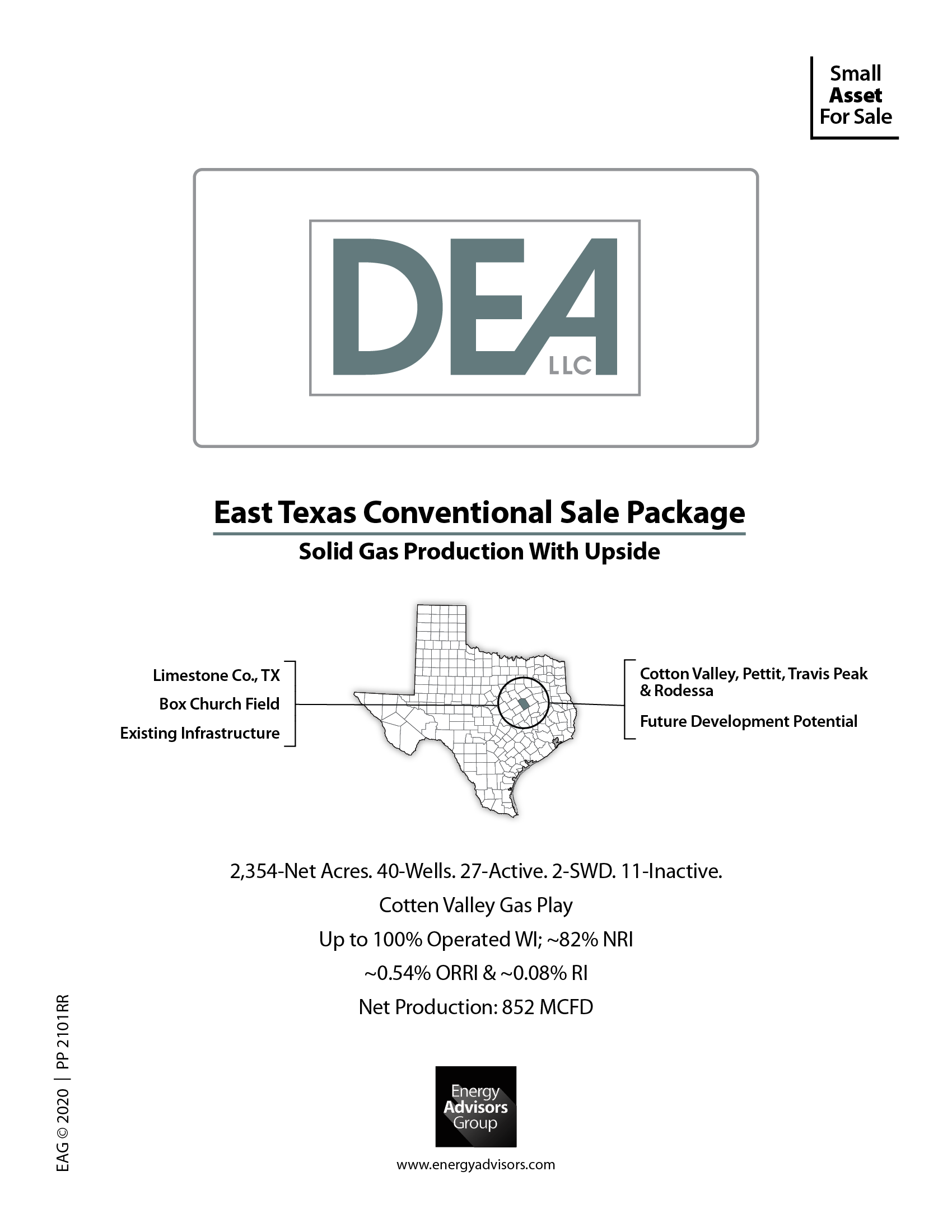 Marketed: East Texas Conventional Asset Package, Limestone County