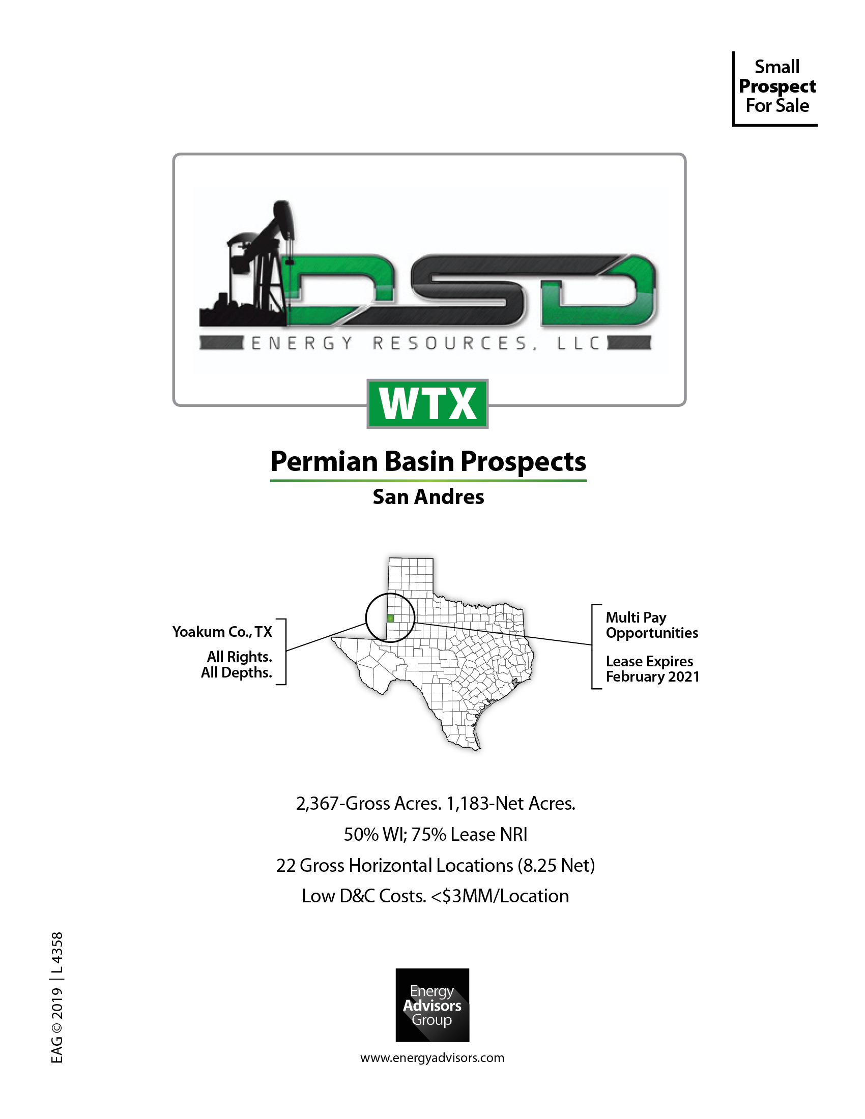 Marketed: Permian Basin San Andres Prospect In Yoakum County, Texas