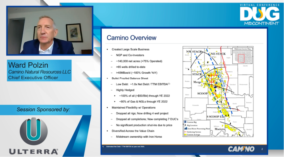 DUG Midcontinent Virtual Conference Camino Natural Resources CEO Ward Polzin