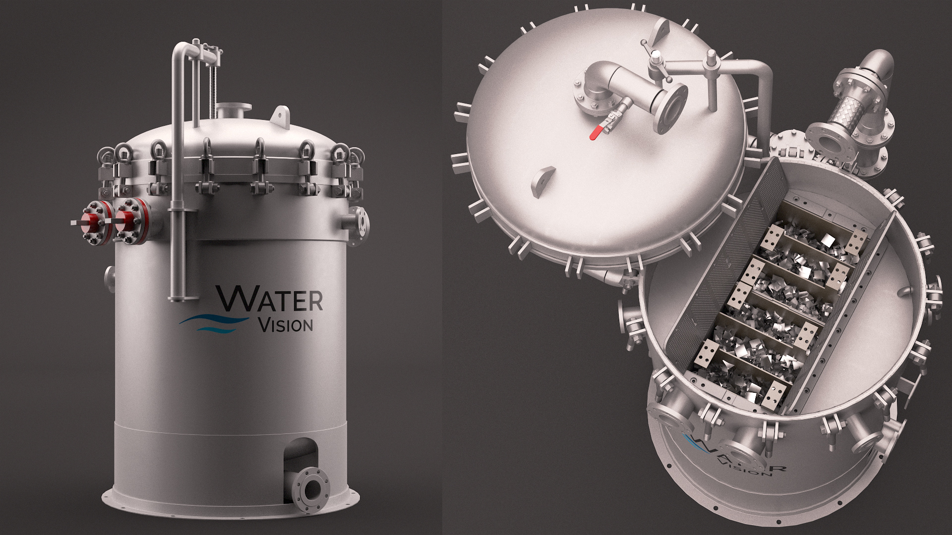 The new vessel for Thincell is shown. (Source: Water Vision Inc.)