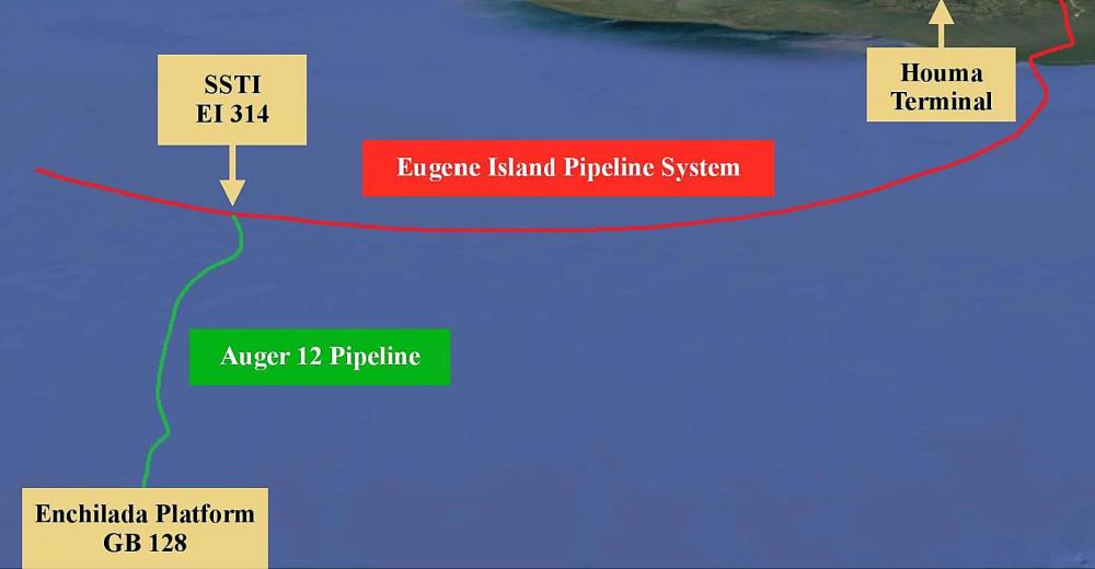 نقشه خط لوله Empire Auger 12