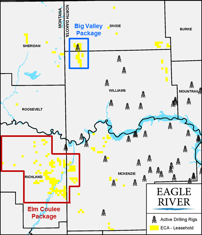 Encana Williston Basin Operated And Nonop Asset Map (Source: Eagle River Energy Advisors LLC)