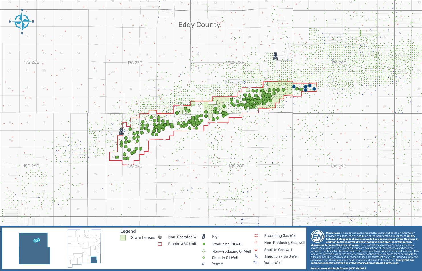 EnergyNet Lot 73481 - EOG Resources 160 Well بسته بندی نقشه