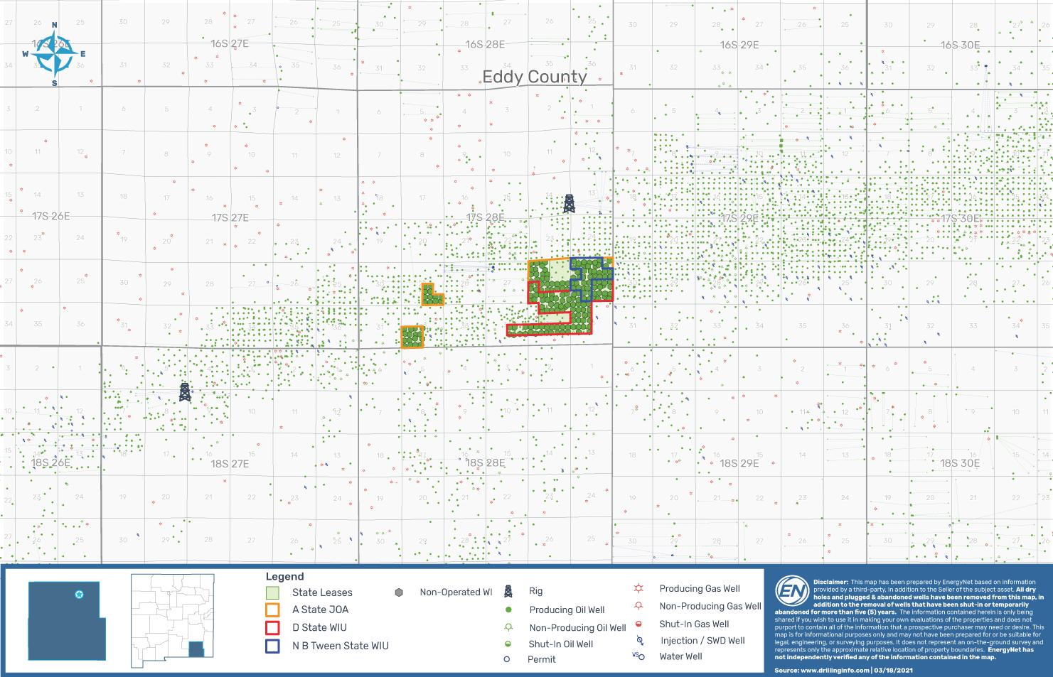 EnergyNet Lot 73482 - نقشه بسته های املاک EOG Resources 205