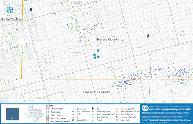 نقشه بازار EnergyNet - Cadence Energy Partners Wolfcamp Shale Package Howard County Texas