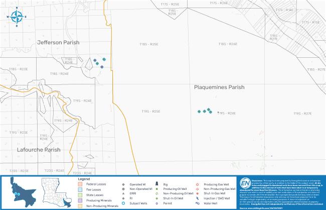 نقشه بازار EnergyNet - DW Wapiti Investments I Operations HBP Leasehold در کلیساهای جنوب شرقی لوئیزیانا