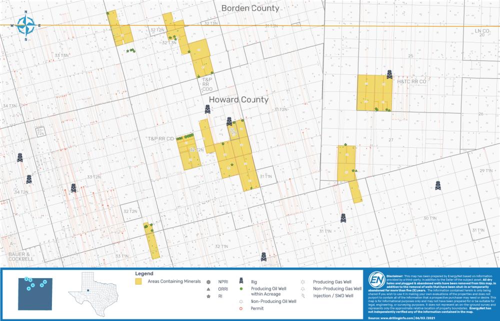 نقشه بازار EnergyNet - Grenadier Energy Partners Wolfcamp Shale Permian حوضه بسته