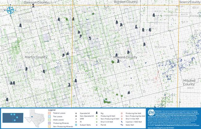 نقشه MarketNet EnergyNet - حوضه پرمینان SM Energy Lot 82601