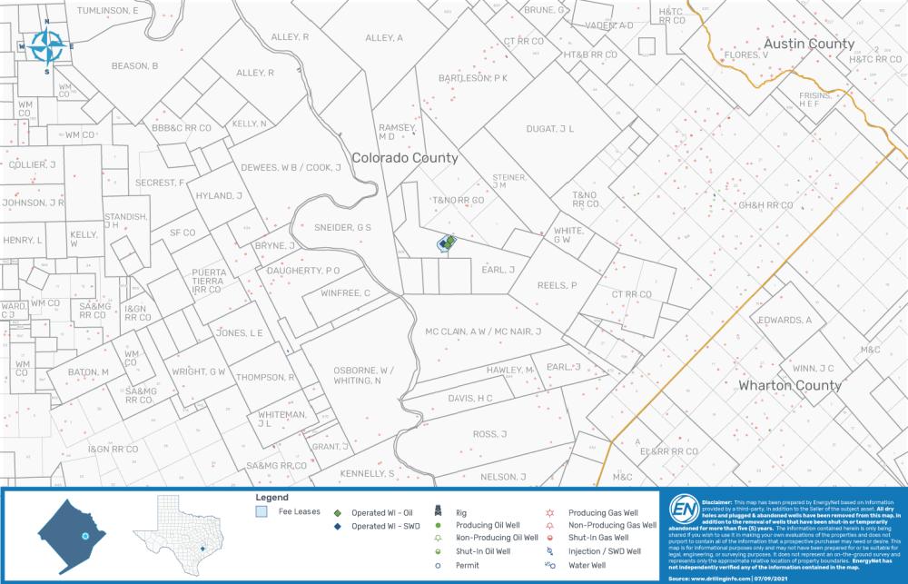 نقشه بازارگردانی EnergyNet - شریران لیز اجاره کلرادو تگزاس در Sue-Ann