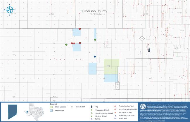 نقشه بازار EnergyNet - بسته چاه Wolfcamp Shale Culberson County Texas
