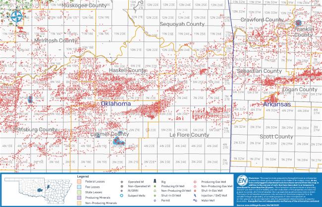 EnergyNet نقشه 1 را به بازار عرضه کرد - بسته بندی مواد معدنی در سراسر آرکانزاس کانزاس نیومکزیکو اوکلاهما