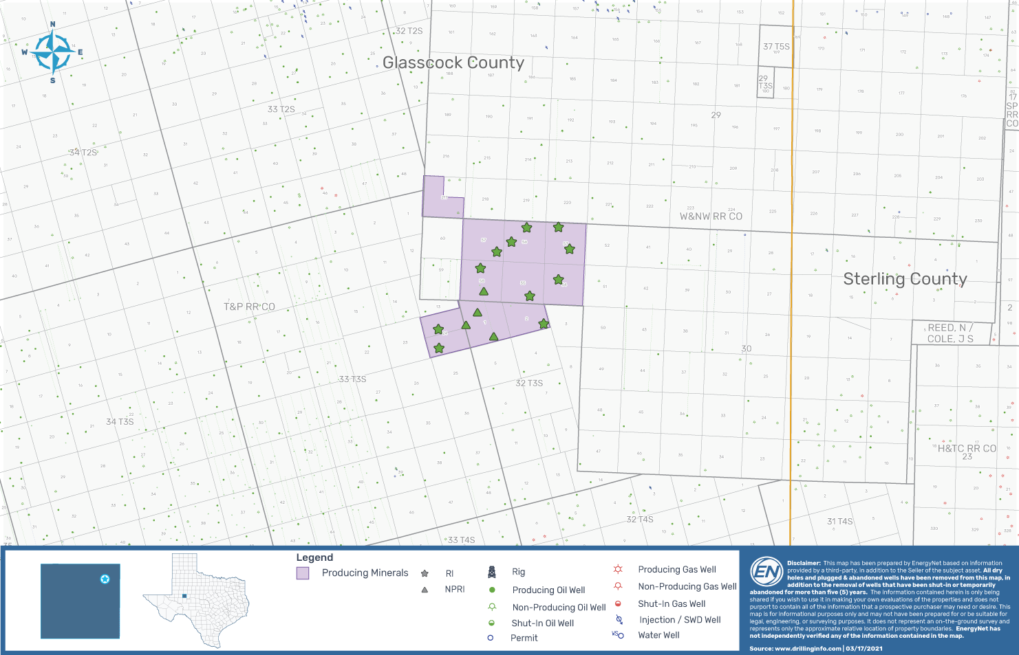 EnergyNet Marketed Map _ Permian Basin Wolfcamp D Opportunity Glasscock County Texas
