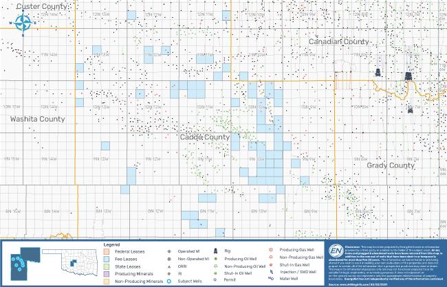 نقشه بازار EnergyNet: فرصت SCOOP / STACK در شهرستانهای کانادا و کادو در اوکلاهما