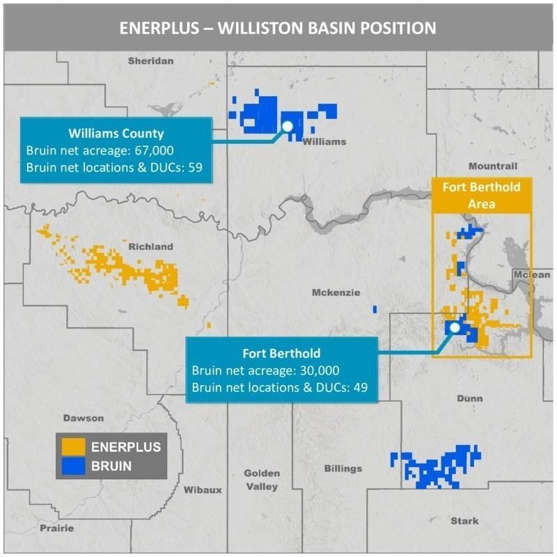 Enerplus Bruin Williston Basin Map (منبع: CNW Group / Enerplus Corp.)