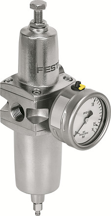 The PCRP filter regulator is equipped with features to withstand harsh process industry applications. (Source: Festo)