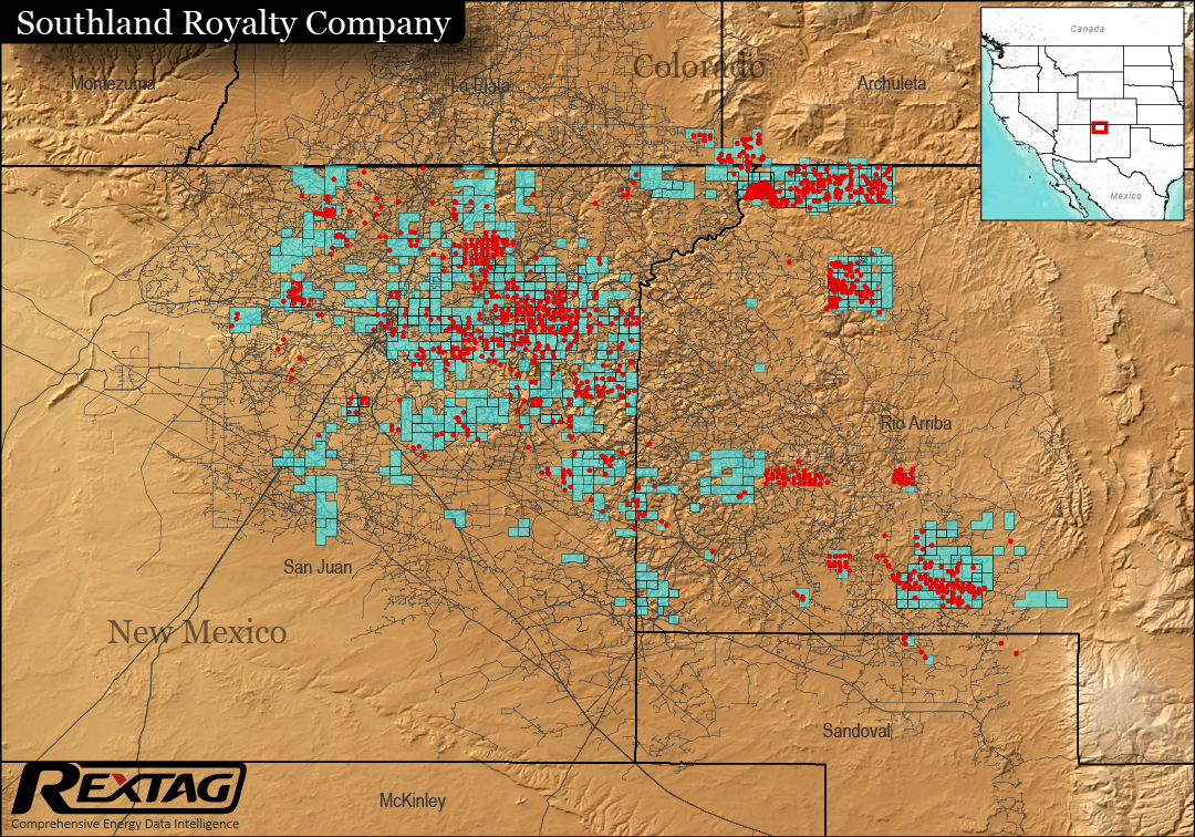 San Juan Basin Bankruptcies, Acquisitions Case Study: Southland Royalty Co. Figure 3 Map