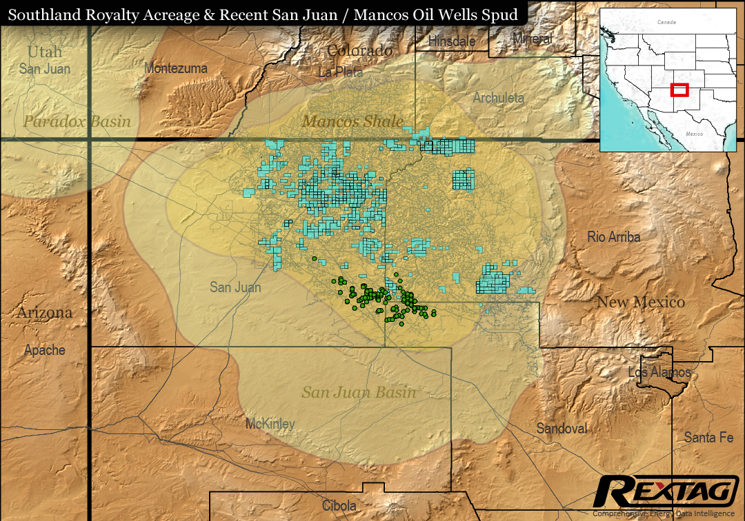 San Juan Basin Bankruptcies, Acquisitions Case Study: Southland Royalty Co. Figure 4 Map
