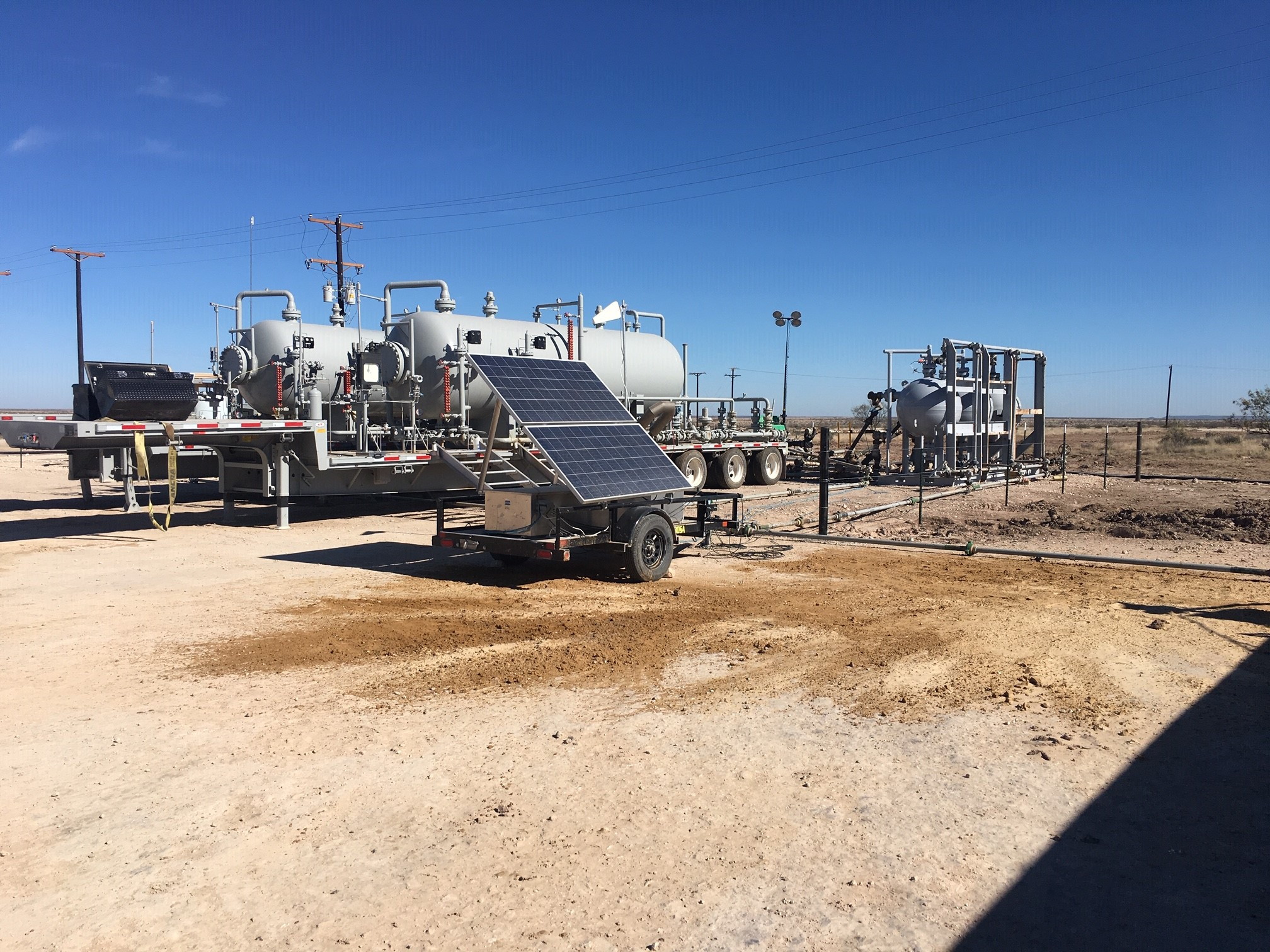 Greene's Energy Group provides an array of sand separator spreads and monitoring solutions. (Source: Greene's Energy Group)