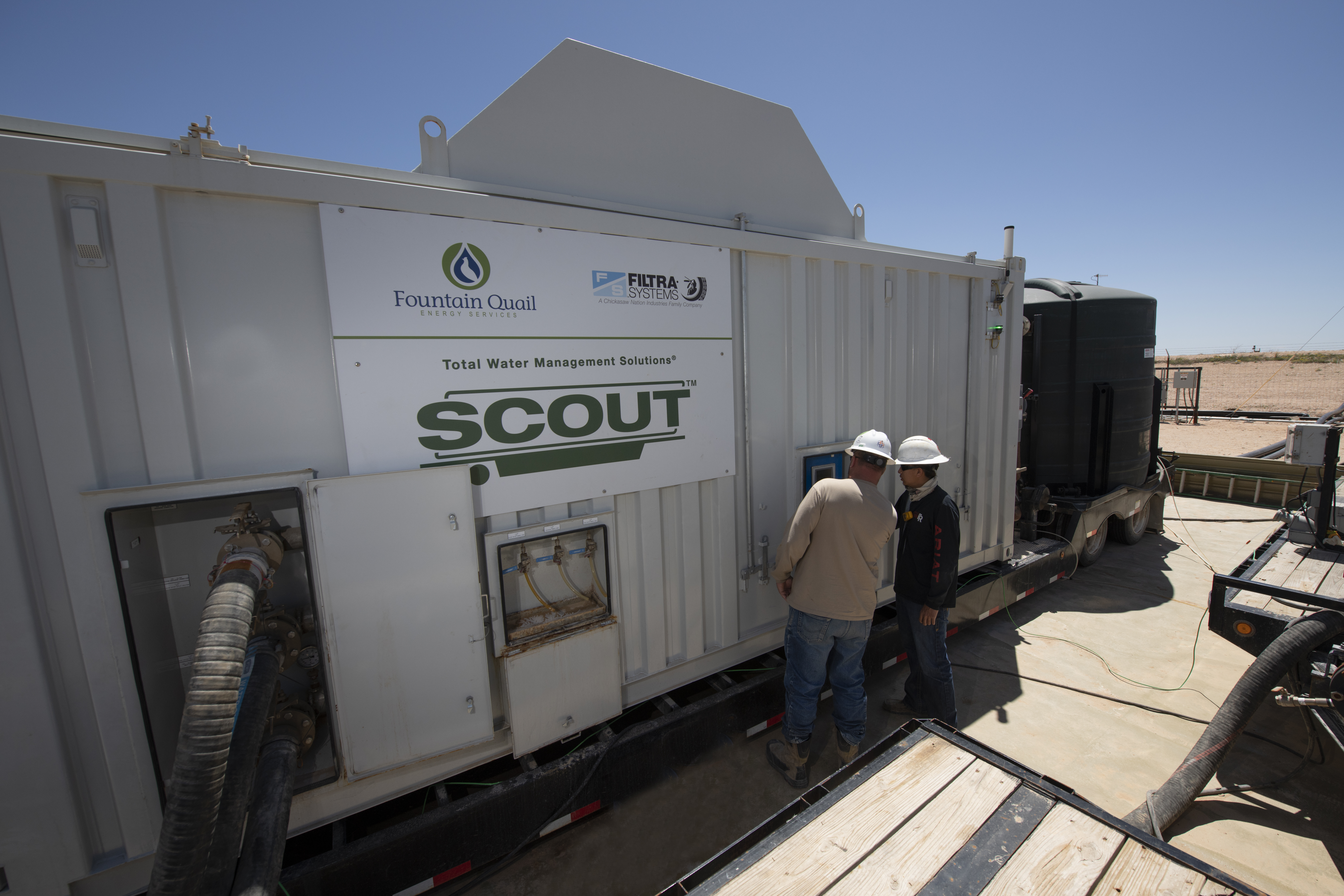 One of the 14 mobile SCOUT units operated in the Permian Basin in May. (Source: Fountain Quail Water Management)
