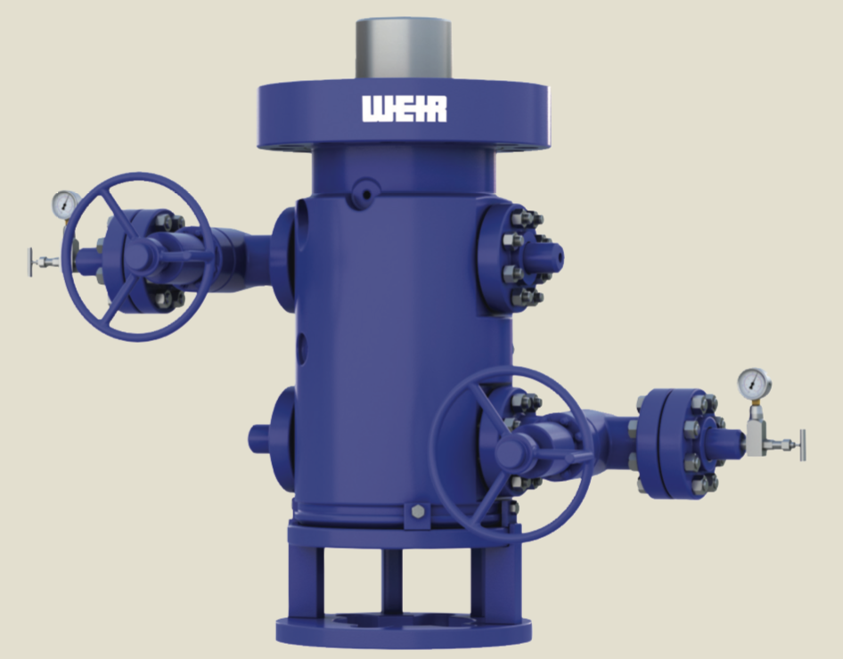 Weir's updated ULR wellhead features a standardized design for shale plays in the U.S. that accommodates 95% of casing configurations in either 11-in. or 135⁄8-in. nominal sizes.