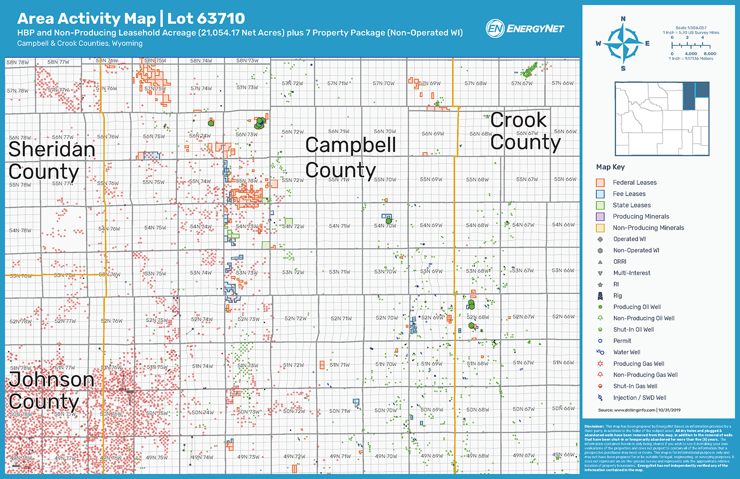 Lot 63710: Campbell and Crook Counties, Wyoming Asset Map (Source: EnergyNet)