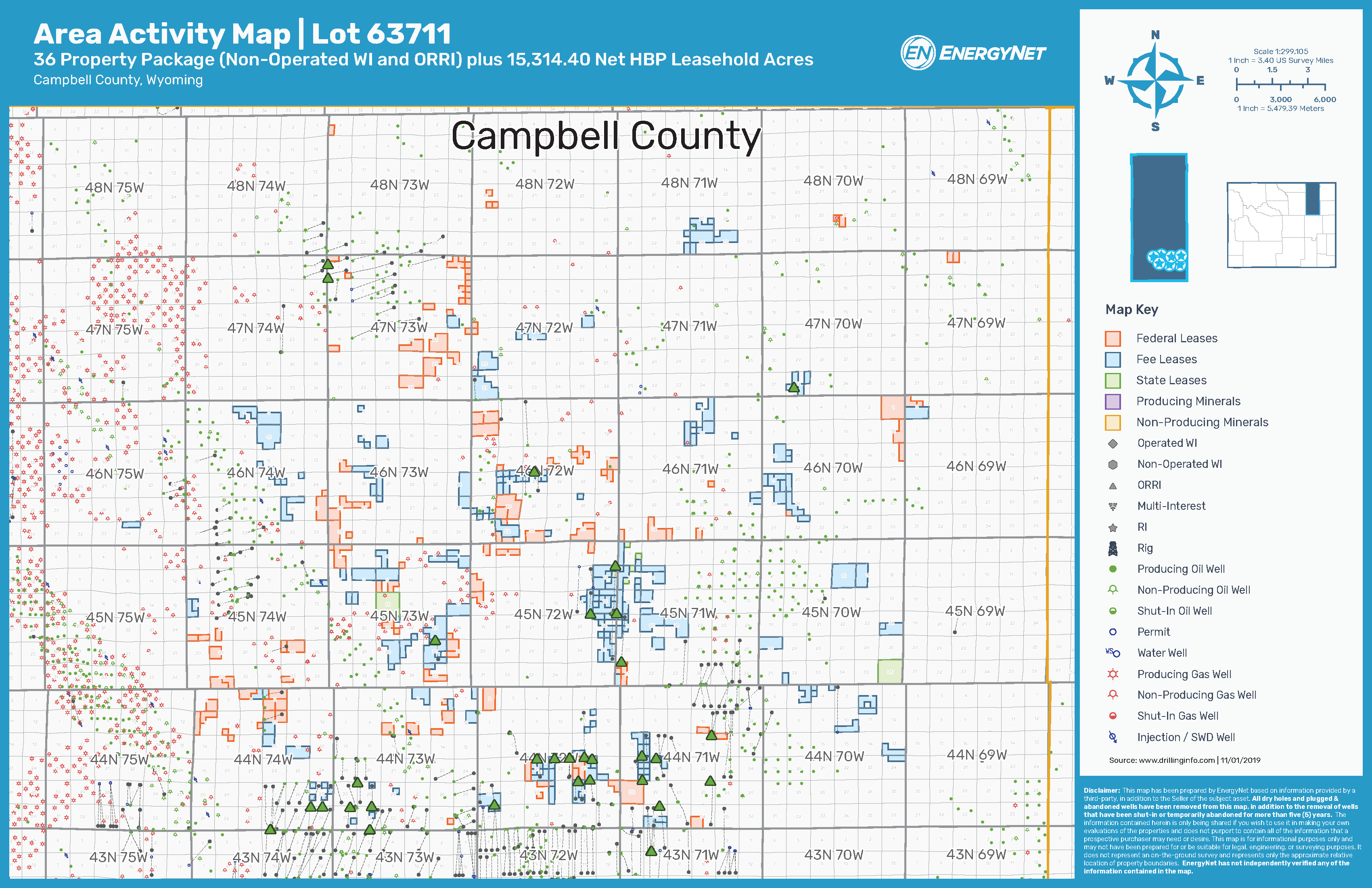 Lot 63711: Campbell County, Wyoming Opportunity Asset Map (Source: EnergyNet)
