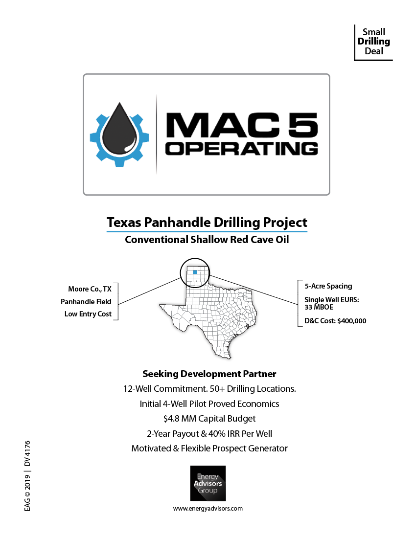Marketed: Texas Panhandle Conventional Drilling Project