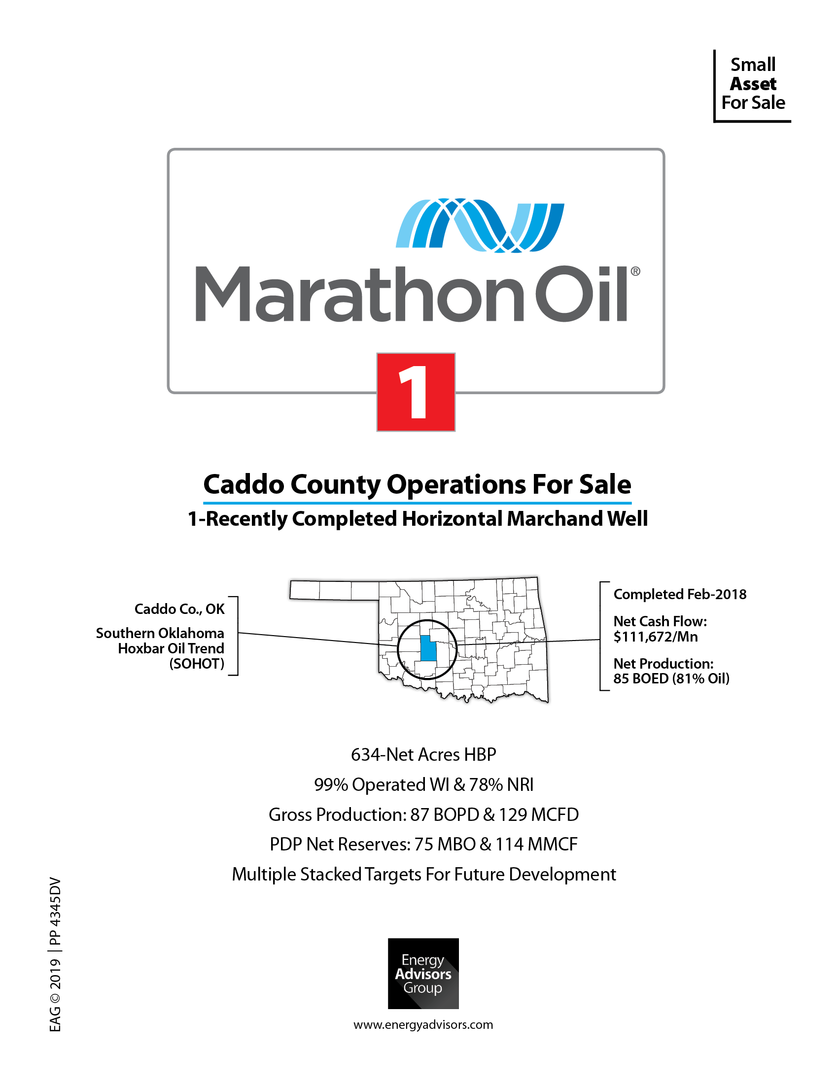 Marketed: Marathon Oil Horizontal Oklahoma Well For Sale