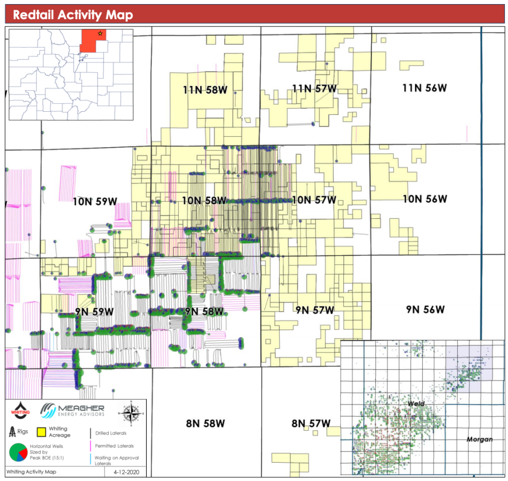 Meagher Energy Advisors Maped Marketed - Whiting Petroleum Redtail Assets Weld County Colorado