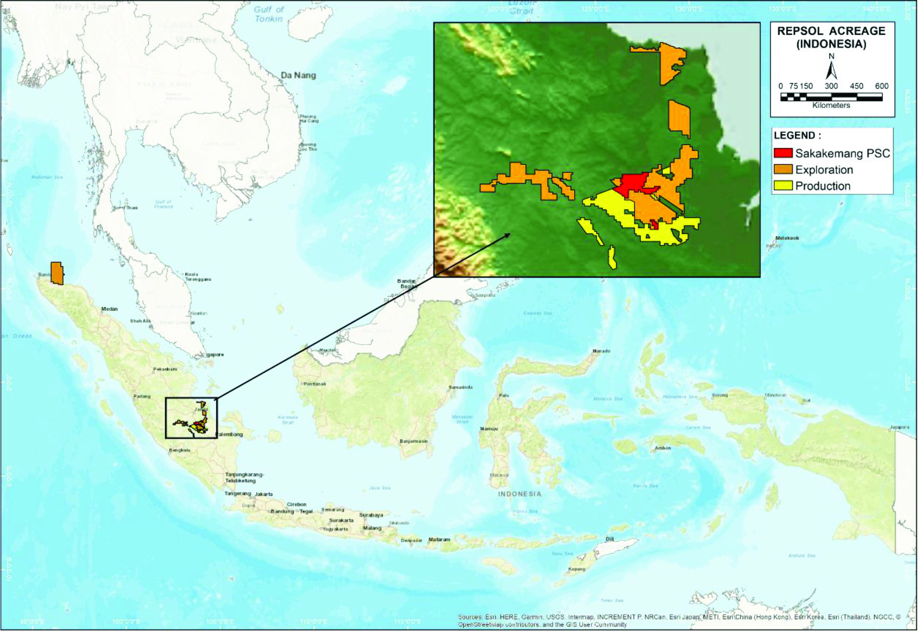 Repsol's KBD-2X discovery is in the Sakakemang offshore block. (Source: Repsol)