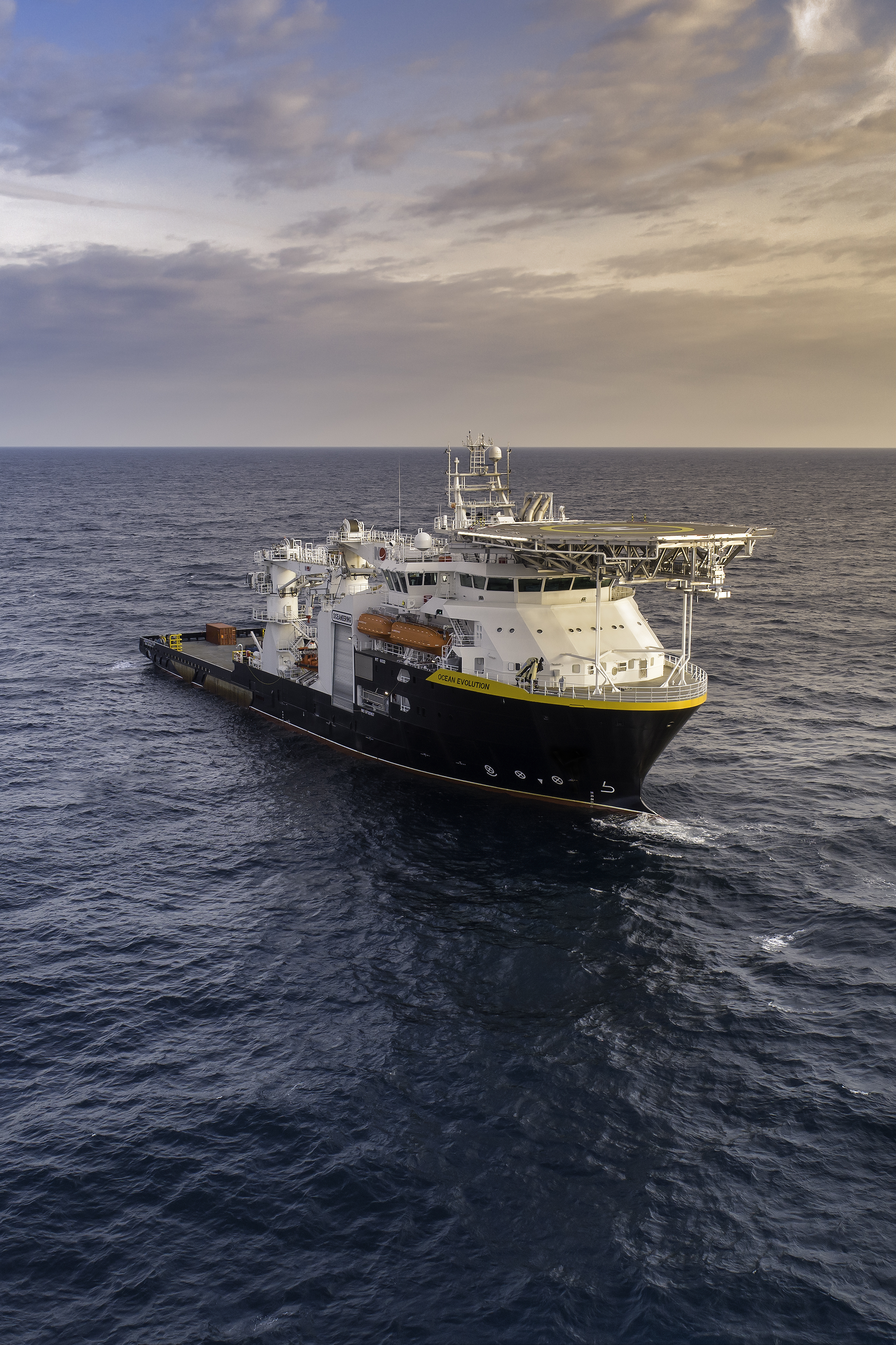 Oceaneering boosted its multiservice vessel fleet with the recent addition of the Ocean Evolution. (Source: Oceaneering)