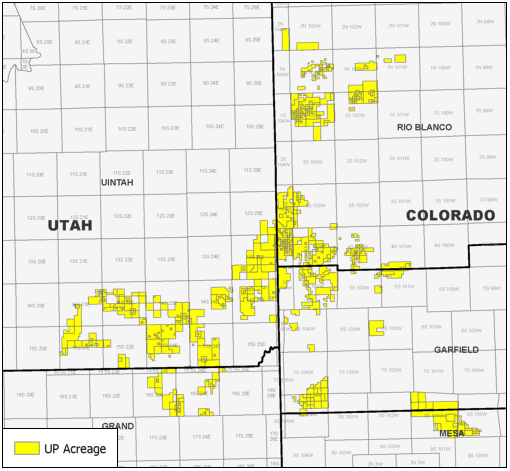 Operated Uinta-Piceance Basin Leasehold Position (Source: Eagle River Energy Advisors LLC)