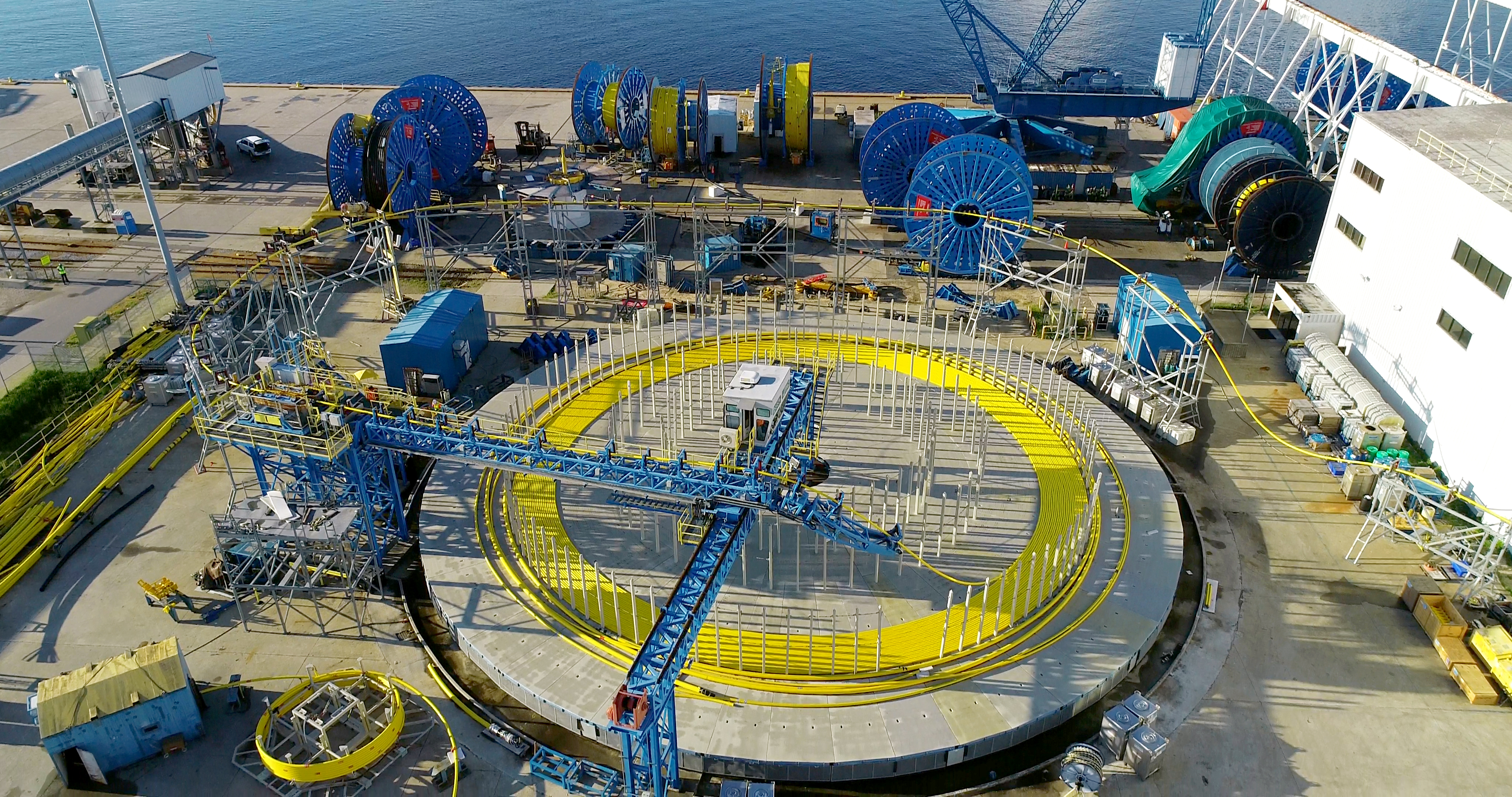 Oceaneering's umbilicals manufacturing facility is located in Panama City, Fla. (Source: Oceaneering)