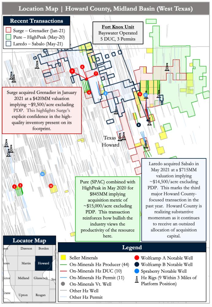 نقشه PetroDivest به بازار عرضه شده - علاقه مندی های سلطنتی میدلند بیسین هوارد