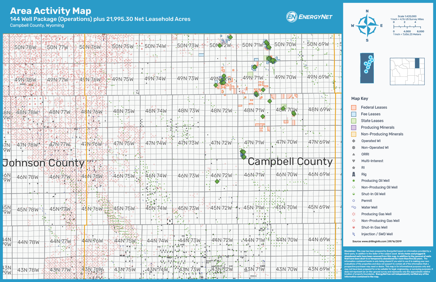 Pine Haven Resources Powder River Basin Campbell County, Wyoming Asset Map (Source: EnergyNet)